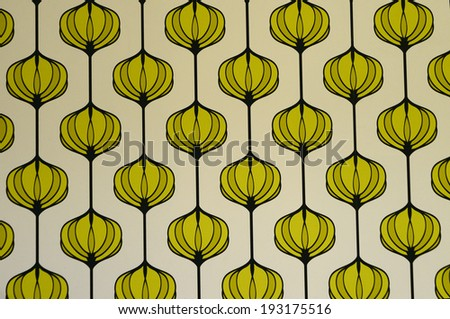 abstract green rhythmic flowers - stock photo