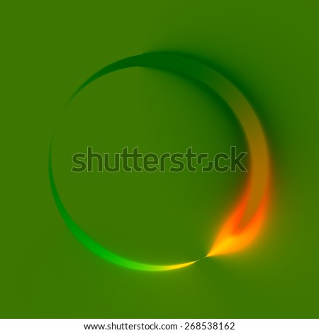 Abstract Green Spinner. Clockwise Direction. Looping Refresh Logo. Web Icon Design. Creative Circle Sign Illustration. Modern Technology Background. Arrow or Recycle Concept. Digital Graphic. - stock photo