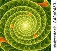 Abstract green swirl - stock photo
