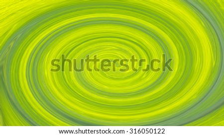 Abstract green whirl - stock photo