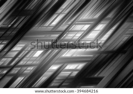 Abstract grey fractal background with various color lines and strips - stock photo