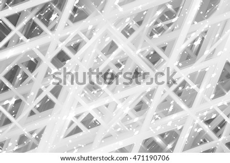 Abstract grey fractal background with various color lines and strips illustration technology.