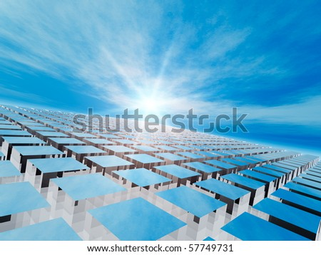 Abstract Grid Background - stock photo