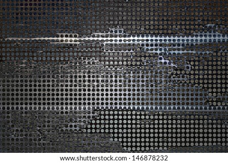 abstract grid background black rough distressed vintage grunge background texture pattern, mesh net background. web design graphic image. brochure background, techno urban modern art style background - stock photo