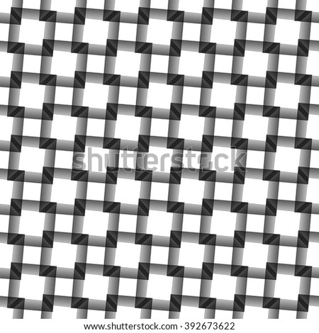 Abstract grid, mesh background. Monochrome reticulate geometric, grillage pattern. Seamlessly repeatable.