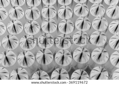 abstract group of metal cap for background used - stock photo
