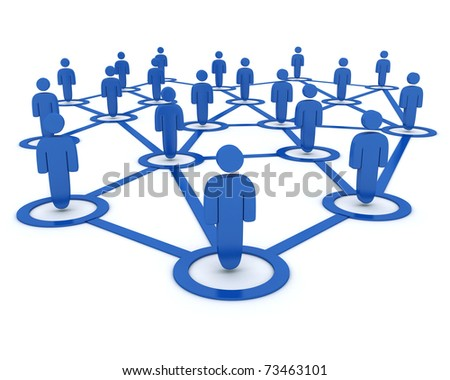 Abstract group people (done in 3d, white background) - stock photo