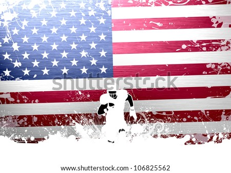 Abstract grunge american football background with space - stock photo
