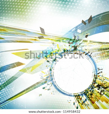 Abstract grunge background in retro style. Rasterized version - stock photo