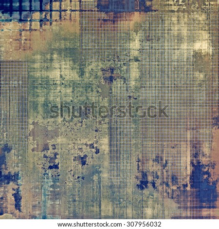 Abstract grunge background of old texture. With different color patterns: brown; gray; green; blue - stock photo
