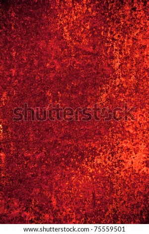 Abstract grunge background: red rusty wall with stains and scratches - stock photo
