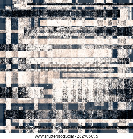 Abstract grunge background with retro design elements and different color patterns: gray; blue; black - stock photo