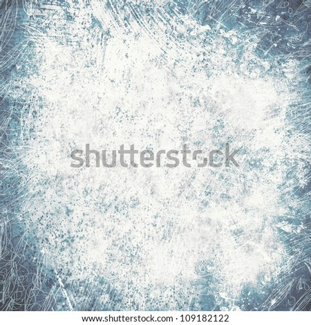 Abstract grunge blue textured background with space for text or image - stock photo