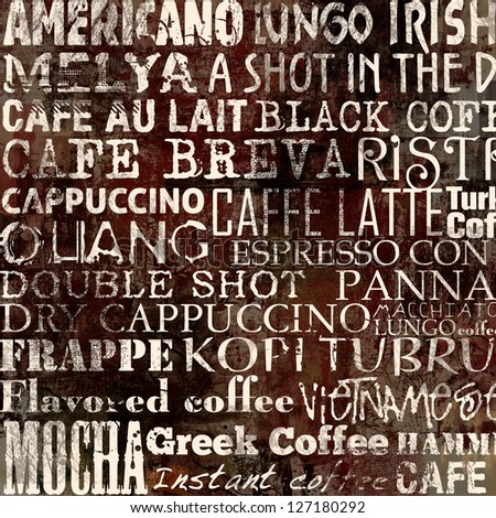 Abstract grunge coffee background with grunge texture - stock photo