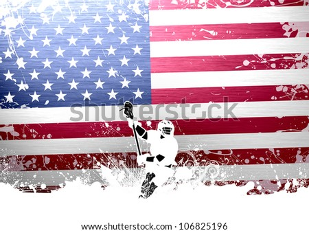 Abstract grunge color lacrosse background with space - stock photo