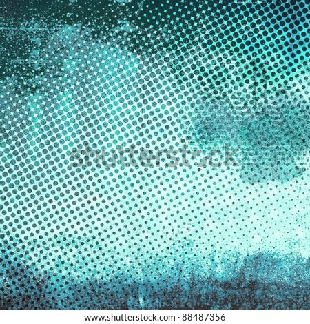 Abstract grunge gradient halftone - stock photo