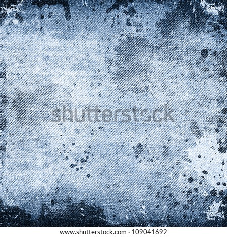 abstract grunge jeans background - stock photo