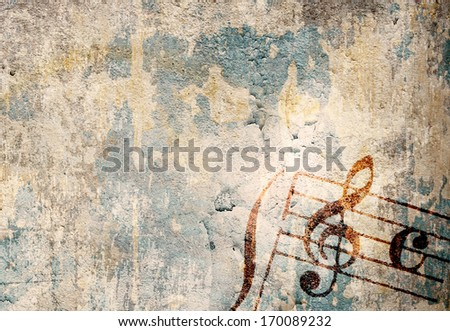 Abstract grunge melody textures and backgrounds - perfect background with space for text or image - stock photo