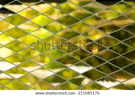 Abstract grunge mirror mosaic background - stock photo