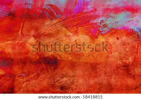 Abstract grunge paint - handmade for colorful wallpaper - stock photo