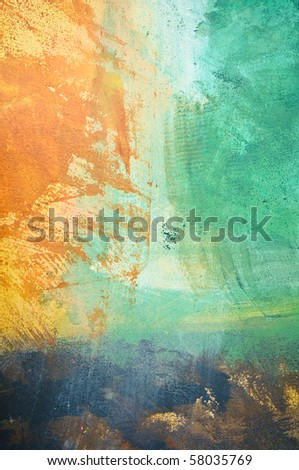 Abstract grunge painted stucco wall - background texture - stock photo