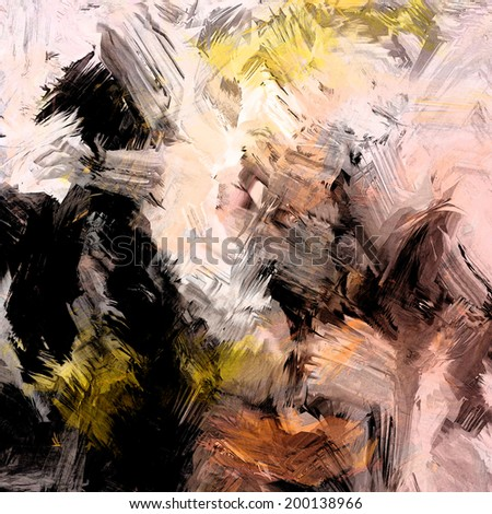 Abstract grunge stained and striped  drawing background - stock photo