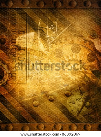 Abstract grunge technology background - stock photo