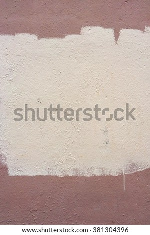 Abstract grunge texture with white/beige paint on it. Urban street wall background. Grunge texture perfect for aged effect. Old dirty texture for your design - stock photo