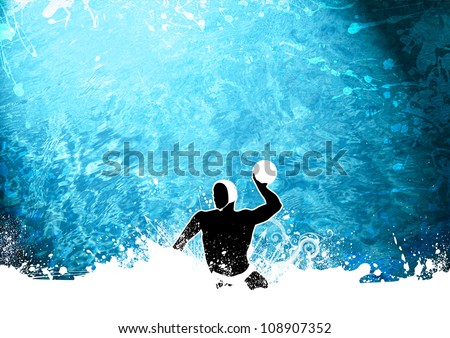 Abstract grunge Water polo background with space