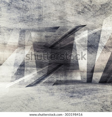 Abstract grungy concrete wall background with chaotic structure pattern. 3d render illustration, concrete texture - stock photo