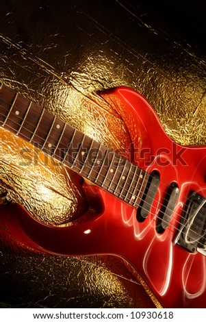 Abstract guitar and light music theme - stock photo
