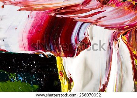 abstract hand draw oil painting composition. colorful background