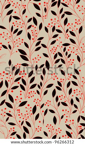 Abstract hand-drawing Seamless pattern with flowers, can be used for wallpaper, pattern fills, web page background, surface textures, illustration