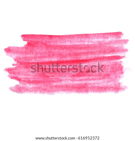 abstract hand drawn red and pink watercolor background