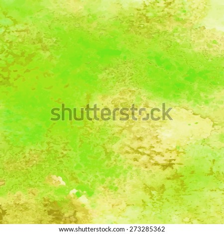 Abstract hand-drawn watercolor background. Green. Relief. Raster copy. - stock photo