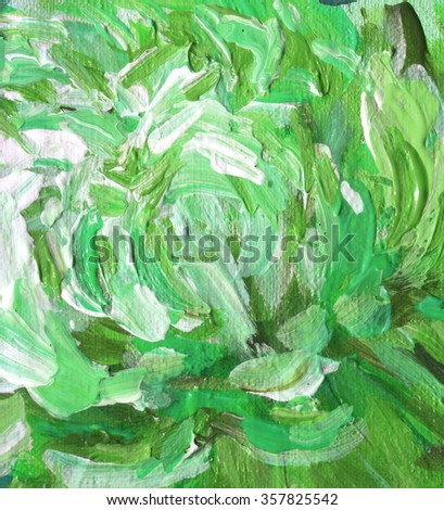 Abstract hand painted background, acrylic paints on a canvas - stock photo