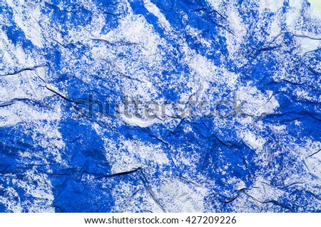 Abstract handicraft works with 3d-like background / Abstract background / Watercolor paint and crumpled art paper to create undulating wavery surface - stock photo