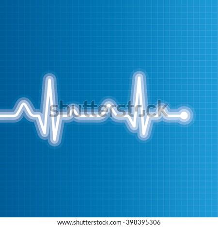 Abstract heart beats cardiogram illustration. - stock photo