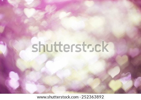 abstract heart bokeh as background,vintage tone,vintage style,pink heart bokeh - stock photo