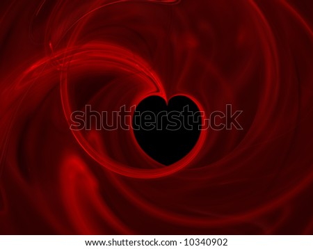abstract heart in storm - stock photo