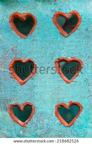abstract heart  metal shape