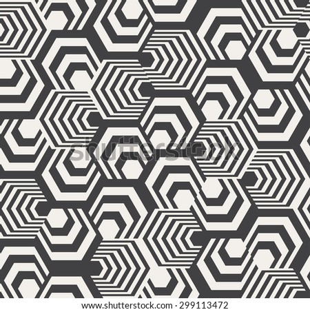 Abstract Hexagon Pattern - stock photo