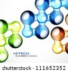 Abstract hi-tech futuristic background. Raster version of my vector illustration - stock photo