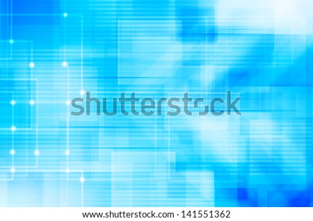 abstract hi-tech on blue background - stock photo