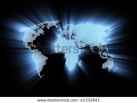 Abstract hitech world map background stock illustration 61332841 abstract hi tech world map as background gumiabroncs Gallery