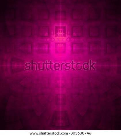 Abstract high resolution background with a detailed geometric square pattern and decorative arches, all in pink - stock photo