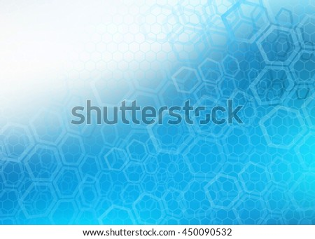 Abstract high resolution illustration of blue faded hexagonal/molecular layered design background perfect for Medical, Healthcare and Science and many other Businesses Plenty of copy space. - stock photo