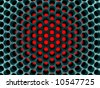 Abstract high-tech honeycomb structure. 3d rendered image. - stock photo