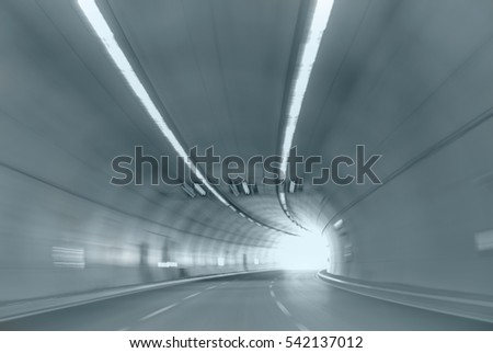 abstract highway road tunnel