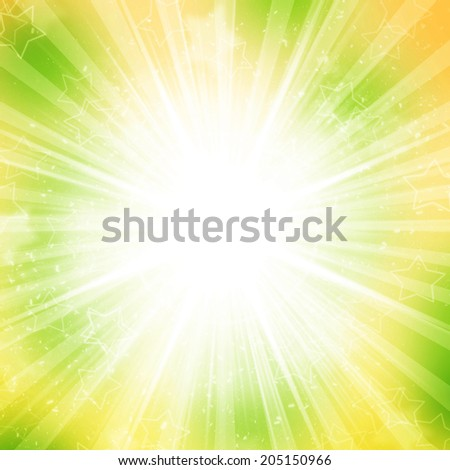 Abstract holiday background yellow and green colors - stock photo